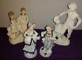 Job lot of 4 x vintage porcelain figures