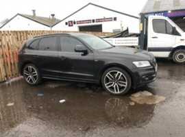 Audi Q5, 2014 (14) Black Estate, Automatic Diesel, 70,000 miles