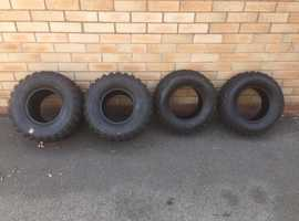 Set of Kenda Road Legal Quad Bike Tyres (Nearly new, only 150miles)