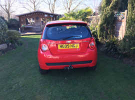 Chevrolet Aveo, 2009 (09) Red Hatchback, Manual Petrol, 40,000 miles
