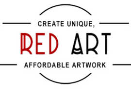RED ART -  LONDON CANVAS WALL ART - CAMDEN TOWN