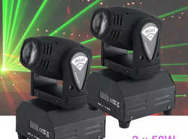 2 lights moving heads brand new DISCO