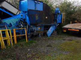 Cardbourd baler and conveyor belt