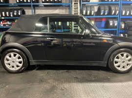 Mini MINI, 2004 (54) Black Convertible, Manual Petrol, 108,000 miles
