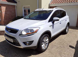 Ford Kuga Titanium 2009 (59) White SUV, Manual Diesel, 75,000 miles Immaculate Condition