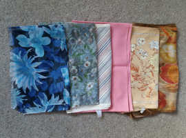 6 long ladies neck/ hair/ accessory scarves