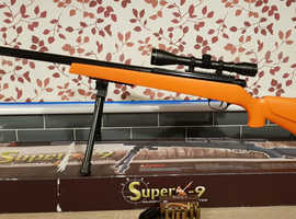 UHC super x9  bolt action sniper rifle with ejecting shells airsoft