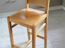 John Lewis Oak Bar Chair