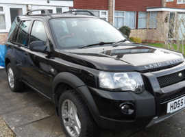 Land Rover Freelander, 2006 (55) Black Estate, Manual Diesel, 93,000 miles, with BMW Chain Driven Engine.