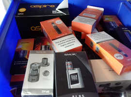 Large quantity vaping equipment Smok Aspire Blu Logic and more bargain clearance