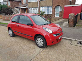 Nissan Micra, 2009 (09) Red Hatchback, Manual Petrol, 25,346 miles