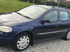Vauxhall Astra, 2001 (51) Blue Estate, Automatic Petrol, 71,000 miles