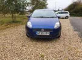 Fiat Grande Punto, 2009 (59) Blue Hatchback, Manual Petrol, 78,524 miles
