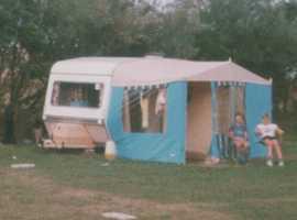Vintage Salou Universal Caravan Awning.