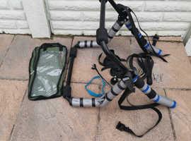 Strap-on rearbike rack