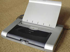 Canon iP90 portable colour inject printer, battery pack, Bluetooth dongle, psu