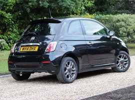 Fiat 500 Sport, 2014 (14) Black Hatchback, Manual Petrol, 19,500 miles