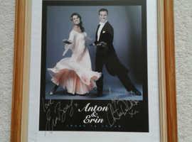 """SIGNED ANTON DU BEKE & ERIN BOAG FRAMED PICTURE 12""""--14"""""""