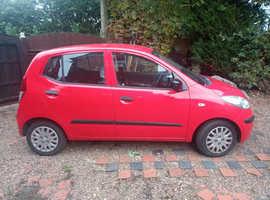 Hyundai i10, 2009 (09) red Hatchback, Manual Petrol, 75000 miles