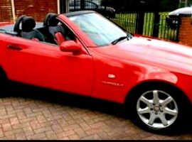 Mercedes SLK 230 KOMPRESSOR AUTO, 1999 (S) Red Convertible, Manual Petrol, 104,000 miles