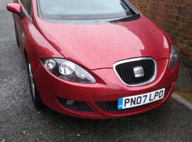Seat Leon, 2007 (07) Red Hatchback, Automatic Petrol, 89,500 miles