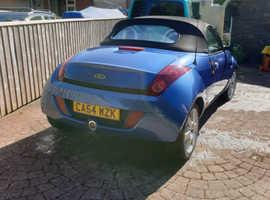 Ford StreetKa, 2005 (54) Blue Convertible, Manual Petrol, 60,000 miles