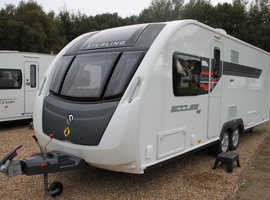 Sterling Eccles SE Wayfarer 2014 4 Berth Fixed Island Bed Caravan + Alde Wet Central Heating System