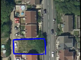 Land for sale in Caerphilly with planning for 2 Semi-Detached Dwellings
