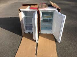 "Brand New Boxed Undercounter Fridge Freezer Size H84.2 x W48.5 x D51cm (33 x 19 x 20"")"