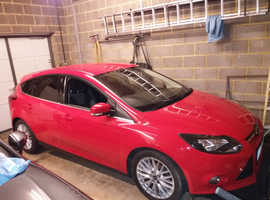Ford Focus 1 6TDCi 115 Zetec, 2013 (13) Red Hatchback, Manual Diesel,  55,000 miles