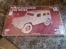 Land rover defender wood model car