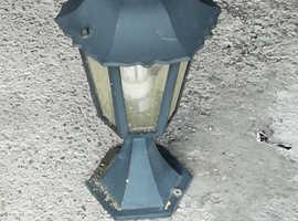Garden post lantern lamps