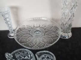 Vintage Lot of cut glass items