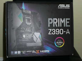 Asus Prime Z390-A socket 1151- ATX motherboard + Intel i7- 8700K 3.7ghz  to  4.7 GHz turbo
