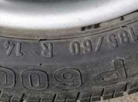 Tyres on alloy wheels