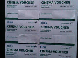 Odeon Tickets. UNDER £4 each incl iSense - SAVE £££s!!!. Long Exp.19/11. Email/Post