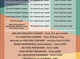 ENGLISH LESSONS ALL ACROSS THE UK
