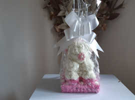 Rose flowered bear