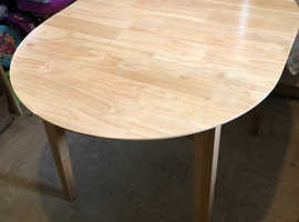 Oval Extending Wooden Dining Table
