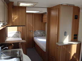 Coachman V.I.P. 565 2014 4 Berth Twin Fixed Single Beds Caravan + Motor Mover + A.T.C Trailer Control + Alde Wet Central Heating System + 3 Months War
