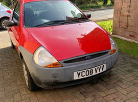 Ford Ka, 2008 (08) red hatchback, Manual Petrol, 81,500 miles