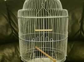 BRAND NEW Round White Bird Cage For Sale [Suitable for Budgie/Lovebird/Finch/Canaries/Parrotlet/Etc] in LONDON
