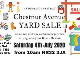CHESTNUT AVENUE COMMUNITY YARD SALE - SAT 4th JULY - NR32 3JA