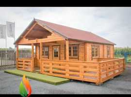 Briquettes heatlogs firewood log cabins