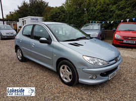 Peugeot 206 Verve, 1.4 Litre 5 Door Hatchback, Low Mileage Only 75,000 Miles, New MOT, Only 3 Owners