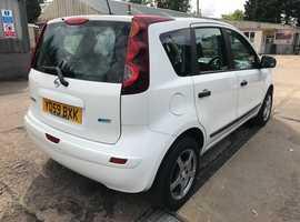 Nissan Note, 2009 (59) White MPV, Manual Petrol, 101,000 miles, MOT Jan 2020