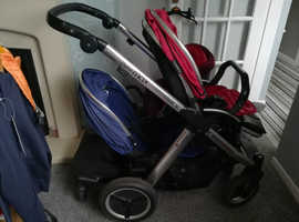 Oyster Max 2, buggy board, carrycot, double/single pram, colour packs