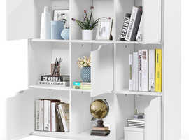 COSTWAY 9 Cube Bookcase Shelving Display Storage Unit (HW63874)