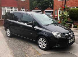 Vauxhall Zafira, 2007 (57) Black MPV, Manual Diesel, 124,535 miles