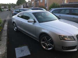 Audi A5, 2009 (59) Silver Coupe, Manual Diesel, 124,500 miles